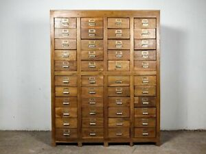 Vintage Wooden Rustic Drawers Cabinet Apothecary Shop Haberdashery MILL-986