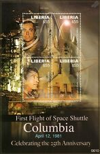 Space Shuttle COLUMBIA OV-102 1981 STS-1 First Flight Stamp Sheet (2006 Liberia)