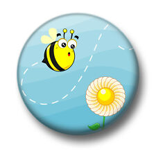 Sunflower Bee 1 Inch / 25mm Pin Button Badge Bees Bumblebees Buzz Busy Cute Fun