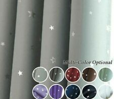 Shiny Stars Children Cloth Curtains For Kids Room Bedroom Living Room