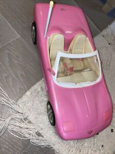 Barbie Remote Control CORVETTE Convertible Pink Car Mattel w/o Remote 2001
