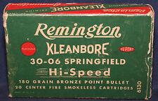 Original Vintage Remington 30-06 Springfield Empty Cartridge Box