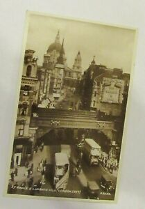 St Paul's & Ludgate Hill, London. (897) Valentine 231156. Real Photograph