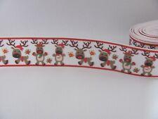 Christmas Dancing Reindeer 1 inch Grosgrain Ribbon