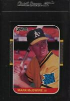 1987 Donruss Mark McGwire ROOKIE RC #46 NM-MT