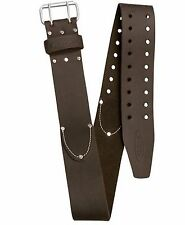 AWP Leather Tool Belt Work Construction Storage Durable Secure Double Closure