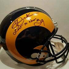 Eric Dickerson signed Rams Full Size Helmet Inscribed PSA/DNA COA
