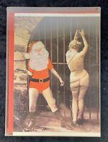 10pk Naughty Santa Vintage Christmas Cards-Uncirculated NOS