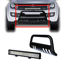 Volkswagen Amarok 10-14 Low Loop Nudge Bar Bumper Grille Guard W/ 126W LED Light