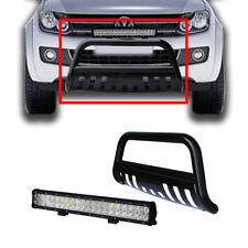 Volkswagen Amarok 10-14 Low Loop Nudge Bar Bumper Grille Guard W/ 126W LED Light