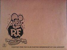 Vintage Reprint - Custom Rat Fink Fan Club Membership Kit - Mailer Only