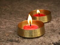 Handmade Pure Brass Tea light Candle Holders Set of 2 Home Decor Votive Holder