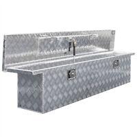 "71"" Aluminum Crossover Crossbed Truck Box Pickup Tool Box Trailer Storage Tool"