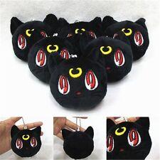 "3"" Sailor Moon Luna Black Cat Anime Plush Toy Pendant Stuffed Doll Plüsch Puppe"