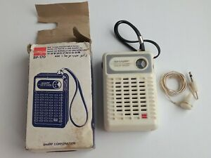 Vintage AM radio Sharp BP-170 transistor in original packaging.