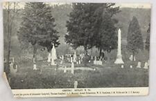 c1910 Antique Postcard Cemetery Bethany West Virginia Noted Graves Tombstones
