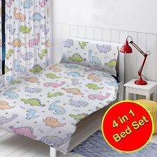 DINOSAURI BAMBINI JUNIOR 4 in 1 Biancheria da letto set completo bambini