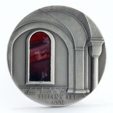 Liberia 10 dollars Tiffany Art fortress castle silver coin 2005