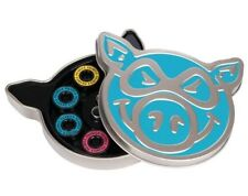 Pig Skateboard Bearings With Spacers and Tin Abec 5 Neon Blue.