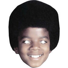 Michael Jackson Retro Celebrity Singer Card Mask - All Our Masks Are Pre-Cut!