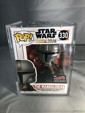 FUNKO POP STAR WARS MANDALORIAN 330 NYCC 2019 OFFICIAL STICKER NEW HARD STACK