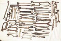 Vtg antique cast iron tool lot mechanic machinist farm carriage wrench