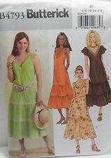 Butterick Pattern #B4793 Misses A-Line Dress Tiered Skirt Size (16-18-20-22)