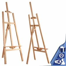 Studio Easel Art Craft Display Easels 145cm Wood Wooden Painting Canvas Stand