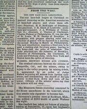 AMERICAN LEAGUE Major League Baseball MLB Founded Creation 1881 Old Newspaper
