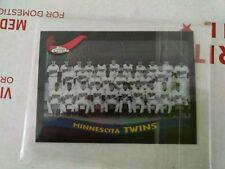 2002 Minnesota Twins Topps Chrome Black Card 19/50