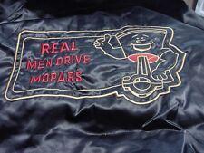 Real Men Drive MOPARS    Black Satin embroidered  Jacket Adult  L