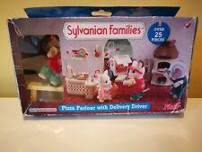 Sylvanian Families Pizza Salón Conjunto de entrega-algunos artículos sin usar en caja