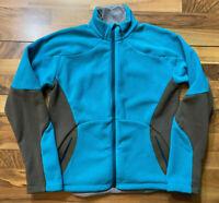 Eddie Bauer First Ascent Womens Fleece Jacket Size XL Polartec Blue Full Zip EUC