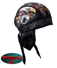 Born Free Eagle Bandana Foulard Bandeau capuche Biker Chopper Cap v2 Harley POW MIA