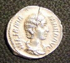JULIA MAMAEA AR 19 DENARIUS. MOTHER OF SEVERUS ALEXANDER. FLAN CRACK NOTED.