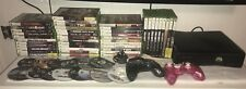 Microsoft Xbox 360 Slim Console Bundle + 59 Games & 2 Wired Controllers