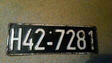 1 altes Besatzer Kennzeichen,Nummernschild,License Plate,Besatzung,NR.2