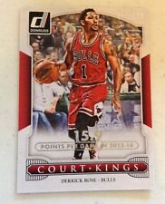 2014-15 Donruss Court Kings Season Stat Line Silver /159 #16 Derrick Rose Bulls