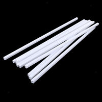 10X Plastic Tube Square 500x8mm Rods Stick for Craft Model Scenery Building