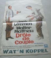 Filmplakat,Plakat,DROLE  DE COUPLE, WAT`N KOPPELJACK LEMMON,WALTER MATTHAU # 91