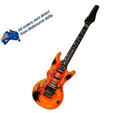 ORANGE Rock Star Inflatable Electric Guitar Kids Birthday Party Favors Bucks