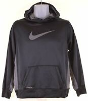 NIKE Boys Hoodie Jumper 15-16 Years XL Black Polyester  AG08