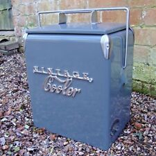 CLEARANCE VINTAGE COOLER Coolbox GREY Retro Cool box wedding present 225VCCLEAR