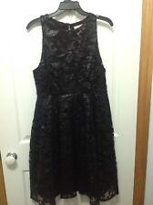 Portman's Black Sequin  Dress Size 14