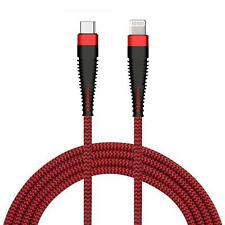 iPhone 11 Pro Max - PD CABLE 6FT LONG USB-C FAST CHARGER POWER CORD BRAIDED RED
