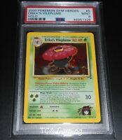 PSA 9 MINT Erika's Vileplume 5/132 Gym Heroes Set HOLO RARE Pokemon Card