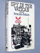 SPY in The VATICAN - Branko Bukun (1973 1st Ed) with dj wartime diary Rome Nazis