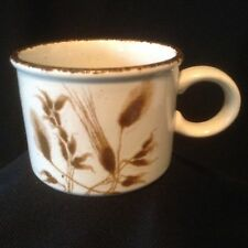 Midwinter Stonehenge WILD OATS Flat Cup England Vintage Brown Speckled Embossed