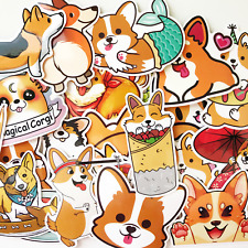 25 Anime Cartoon Cute Corgi Shiba Dogs Puppy Laptop Stickers - Fast US Shipping