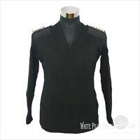 Nato Pilot jumper V neck Pullover Sweater Crew clothing Black Navy Cardigan
